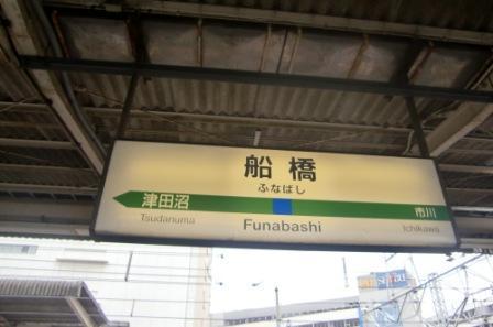 船橋駅構内